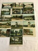 16 Vintage Post Cards of Boston Public Garden and Commons