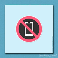 "No Cell Phones Warning - Vinyl Decal Sticker - c149 - 3.75"" x 3.75"""
