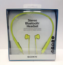 Sony SBH70 Wireless Stereo Bluetooth Headset Earphones Water Resistant - LIME