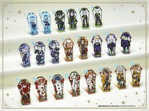 Twisted Wonderland Acrylic Keychain Stand Coffin Style Malleus Riddle Leona Azul