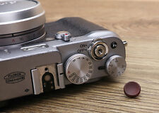11mm Iron Wood Camera Soft Shutter Release Button For Fujifilm Leica Sony +Box