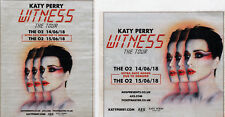 KATY PERRY JUNE 2018 LONDON THE O2 ADVERTS X 2  - WITNESS TOUR