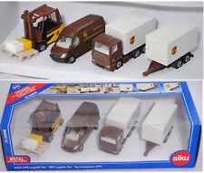 Siku Super 6324 UPS Logistik Set: Linde Stapler+MB Sprinter Postwagen+Scania LKW