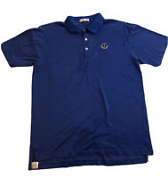 Peter Millar Polo Golf Shirt Size L Blue