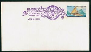 Mayfairstamps American Samoa 2000 Sailboat 1st American Viticultural Area Cover
