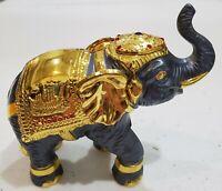 Thailand Cast Metal Parade Elephant Figurine. Original Gift Box Included. Unique