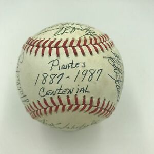 1887-1987 Pittsburgh Pirates Centennial Game Used Signed Baseball 17 Signatures
