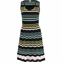 MISSONI Women's Multicoloured Stretch Knit Dress, sizes UK 8 10 12