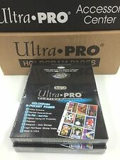 Ultra Pro Platinum 9 Pocket Pages Factory box (100) x 2 -best for trading cards