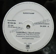 "SUPERTRAMP Cannonball 1985 BRAZIL Promo Only 12"" + PRESS SHEET Roger HODGSON"
