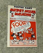 "DISNEY1935 DAIRY PROMOTIONAL""MICKEY MOUSE MAGAZINE""MARCH,VOL.II, NO.5-EXCELLENT!"