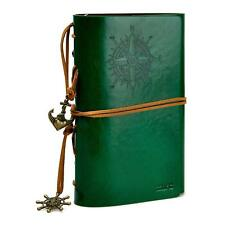 ZLYC Vintage Refillable Loose-leaf Handmade PU Leather Journal Writing Notebook
