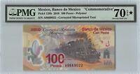Mexico 2010 P-128b PMG Seventy Gem UNC 70 EPQ * 100 Pesos *Polymer*