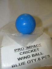 Pro Impact Cricket Wind Ball - Size: Standard Pack of 6 Blue