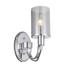 Chiswick Smoke Glass Pendant Wall Light Chrome Suit Home, Office or Restaurant
