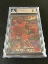 Michael Jordan Flair 1995-96 HOT NUMBERS Insert BGS 9 w/10 centering NBA BULLS