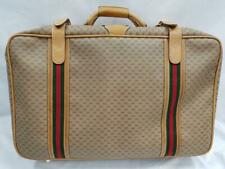 404dbf67a8ff Gucci Authentic VTG Monogrammed Green Red Signature Leather Suitcase Hand  Bag GG