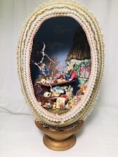 Artist Carol Webb EASTER ROOM BOX Egg BIG Diorama Dollhouse MINIATURES Lighted !