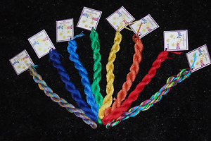 DINKY DYES Silk 6 Strand 8m Hand Dyed Floss THREAD Needlework,Cross Stitch M-Z