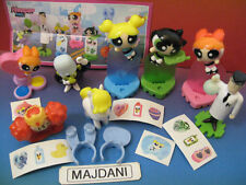 POWERPOUFF GIRLS  COMPLETE SET ALL PAPERS MAGIC KINDER SURPRISE