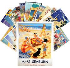 24 Postkarten Set * Retro Travel Posters Beach Holidays CC1050