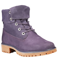 Timberland Jayne Fold Down Boots (Women Size 9) Purple Roll Top A1XC2
