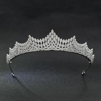 Classic Cubic Zirconia CZ Bridal Wedding Tiara Crown Diadem Hair Accessories