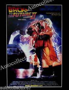 GENUINE CHRISTOPHER LLOYD MICHAEL J FOX signed AUTOGRAPH Back to the future