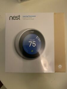Google Nest 3rd Generation Stainless Steel Learning Thermostat New