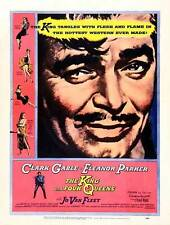 THE KING AND FOUR QUEENS Movie POSTER 27x40 B Clark Gable Eleanor Parker Jo Van