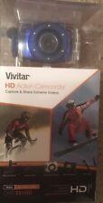 Vivitar HD Action Camera DVR 781HD Blue W/ Waterproof Case And Mounts