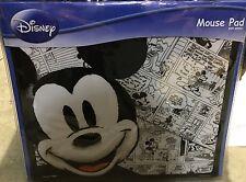 Disney Mickey Mouse Cartoon Sketch Strip Mouse Mat Matt - Black And White