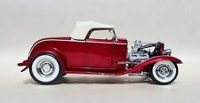 1932 FORD ROADSTER DEUCE HOT ROD CANDY APPLE RED 1:18 ACME VINTAGE STREET GMP