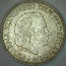 1965 Netherlands Gulden Silver Coin Uncirculated UNC KM# 184  K50