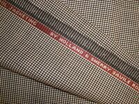 "2.77 yd HOLLAND SHERRY WOOL Luxury Wortsed FABRIC 9 oz SUITING Nailhead 100"" BTP"