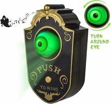 Halloween Animated Haunted House Doorbell Eyeball Decor Party Prop Spooky Sound