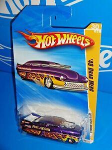Hot Wheels 2010 New Models #30 '49 Drag Merc Mtflk Purple w/ 5SPs
