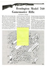 REMINGTON 760 GAMEMASTER RIFLE EXPLODED VIEW PARTS LIST DISASSEMBLY INST AD 1993