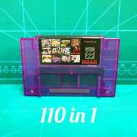 Super 110 in 1 Game Cartridge For Super Nintendo SNES 16-Bit Multicart NTSC SNES