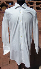 NEXT Luxury Superfine Cross-hatch White Multi-Colored 16/32 French Cuff Shirt