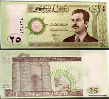 IRAK billet neuf de 25 DINARS Pick86 emis sous  SADDAM HUSSEIN IRAQ 2001