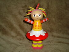 In the Night Garden Upsy Daisy Wooden Stacker Doll  dated 2007 8.5 tall