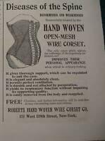 VINTAGE Rogers Hand Woven Women's CORSET Ad