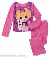 LaLaLoopsy Doll Girl's size 7/8 Pink Pajamas NeW L/S Shirt & Pants Pjs BUNNY