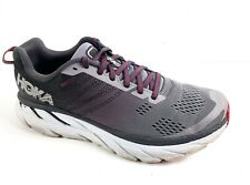 Hoka One One Mens Clifton 6 Grey Running Shoes Lace Up Size 8.5