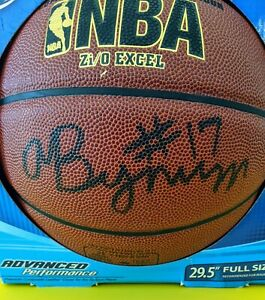 Andrew Bynum Los Angeles Lakers  Signed IN DOOR/ OUT DOOR Basketball