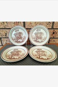 4 x Vintage Churchill Stonecast Homespun Safari Bread & Butter Plates England