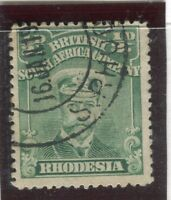 RHODESIA;   1913-22 GV Admiral issue fine used 1d. value, shade