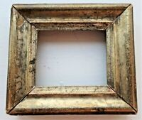 "SM MINIATURE FITS 2.5X3"" ANTIQUE GOLD GILT WOOD PICTURE FRAME DOLL HOUSE COUNTRY"