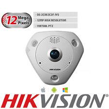 HIKVISION 12MP External IP Network Camera IR Fisheye 360 PTZ Mic DS-2CD63C2F-IVS
